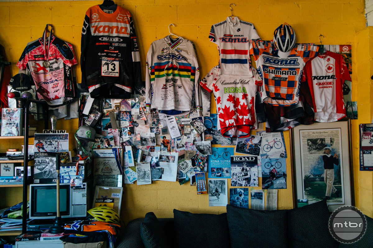 Over twenty-five years of MTB history are displayed on these walls.
