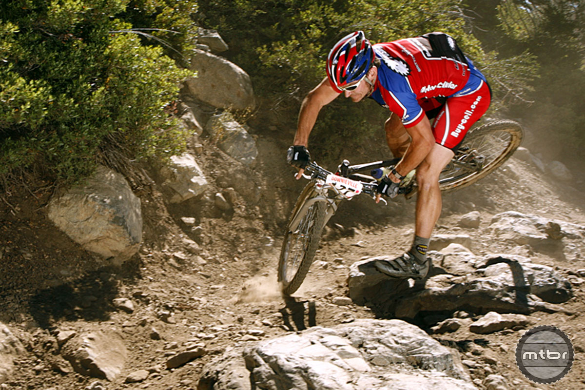 The Angry Singlespeeder heeding his own advice at the Downieville Classic. Photo by Forrest Arakawa