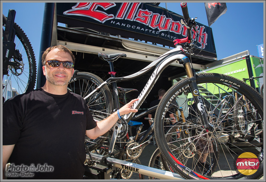 Tony Ellsworth With The Enlightenment Carbon Fiber 29er Hardtail