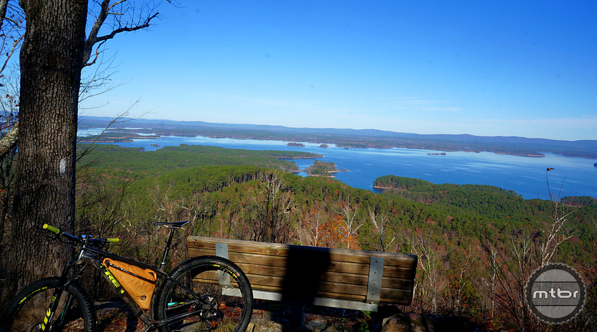 Expansive vistas give trail users plenty of snack break points on the aptly named Lake Ouachita Vista Trail (LOVIT).