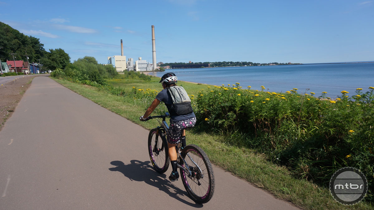 Riding to either the north or the south trails from town is made easy thanks to the towns commitment to bike friendly infrastructure. We spun many circles along this scenic path during our time exploring Marquette.