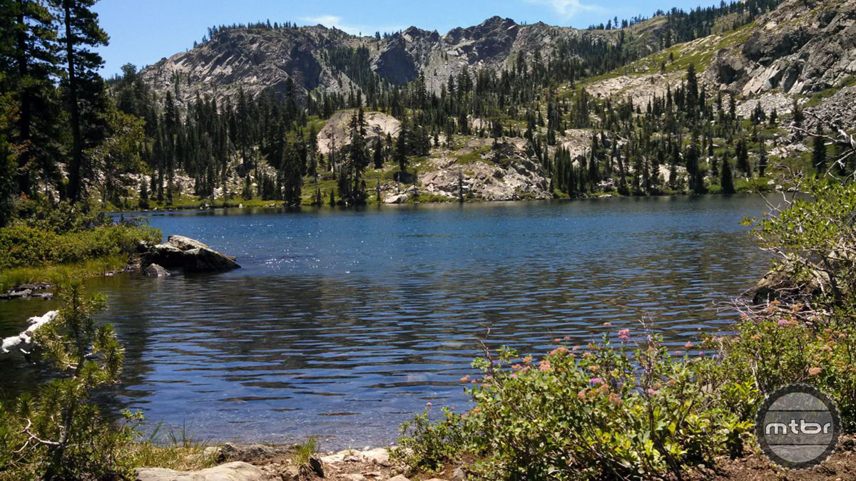 The riding in Lakes Basin is hard on the body, but the landscapes are easy on the eyes.
