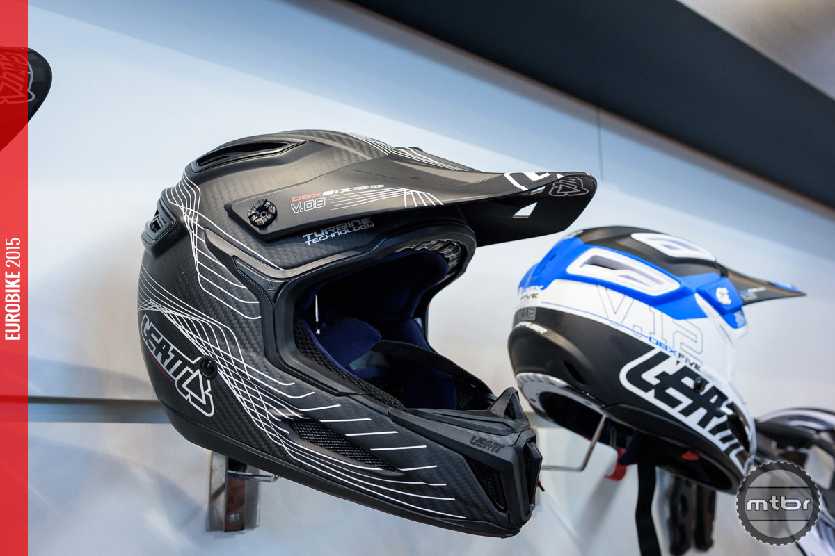 Leatt 6.0 Carbon helmet.