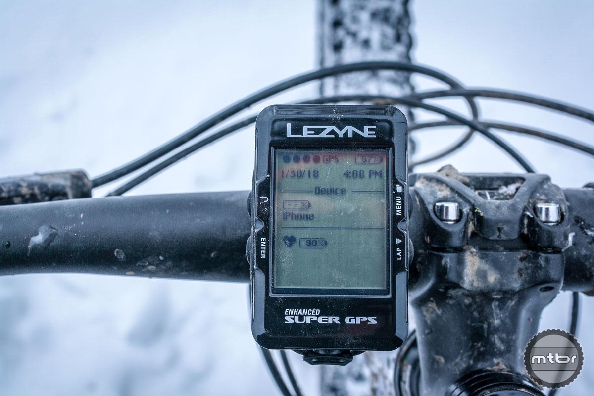 Lezyne Enhanced Super GPS Installed