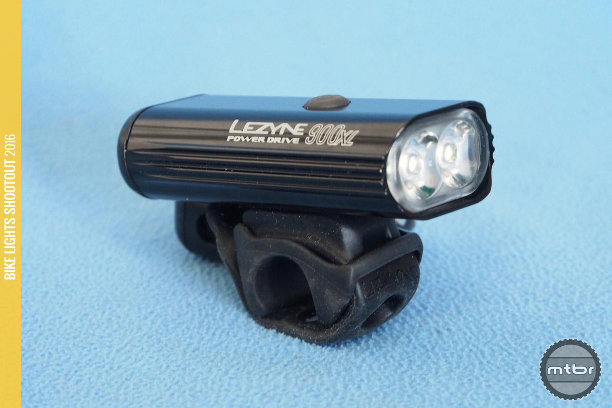The Lezyne Power Drive 900XL side profile reveals a compact design.