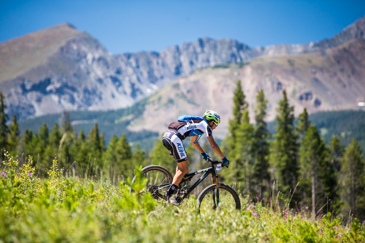 Jon Russell of Kuhl Racing out of Utah got his first experience with racing above 10,000ft today. He finished third in the 6 day 30+ men's field. Photo by Liam Doran Photography