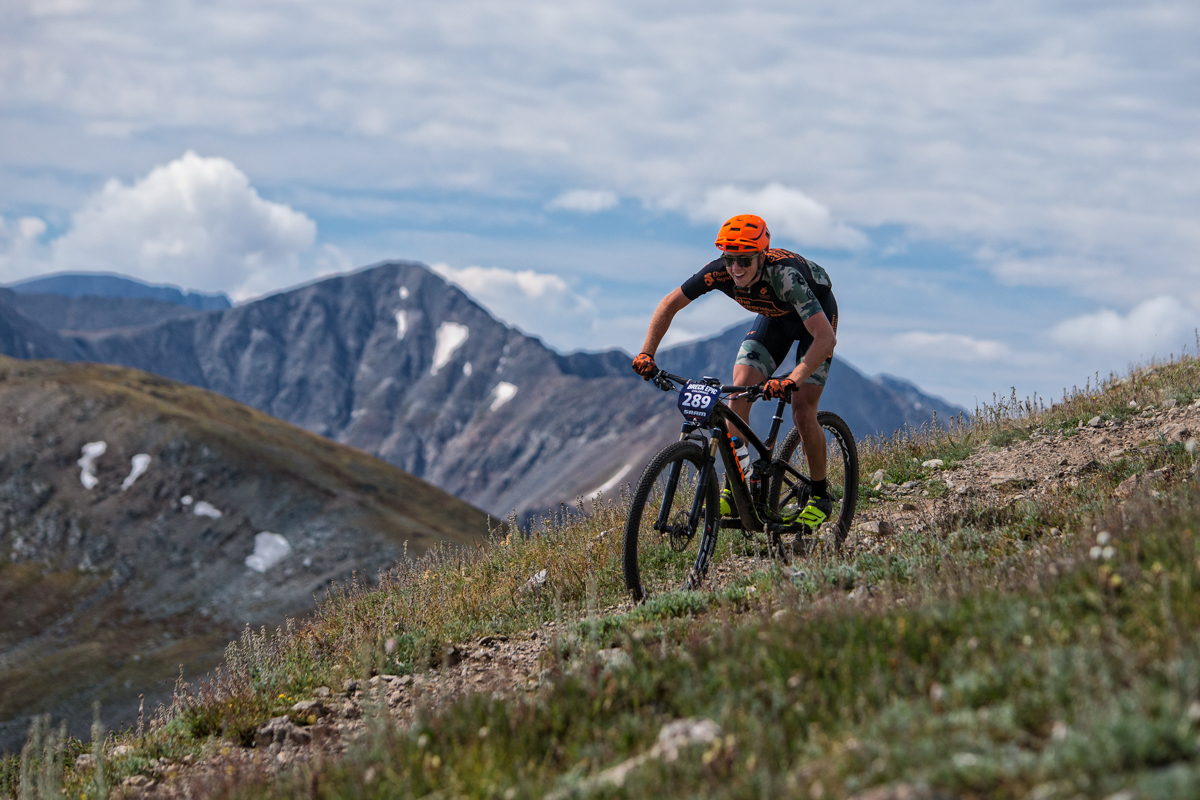 The young Jonathan Modig (The Adrenalin Project) is having a great ride at Breck Epic. Photo by Liam Doran Photography