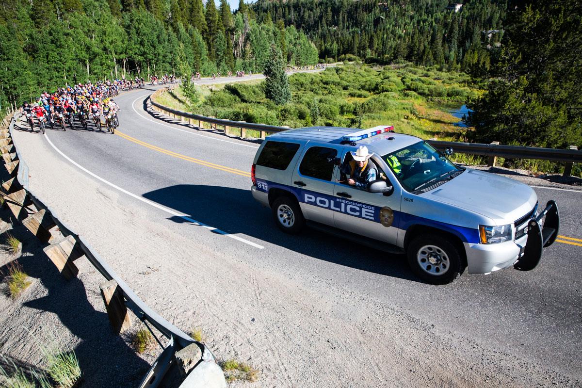 And away we go. Photo courtesy Breck Epic/Liam Doran