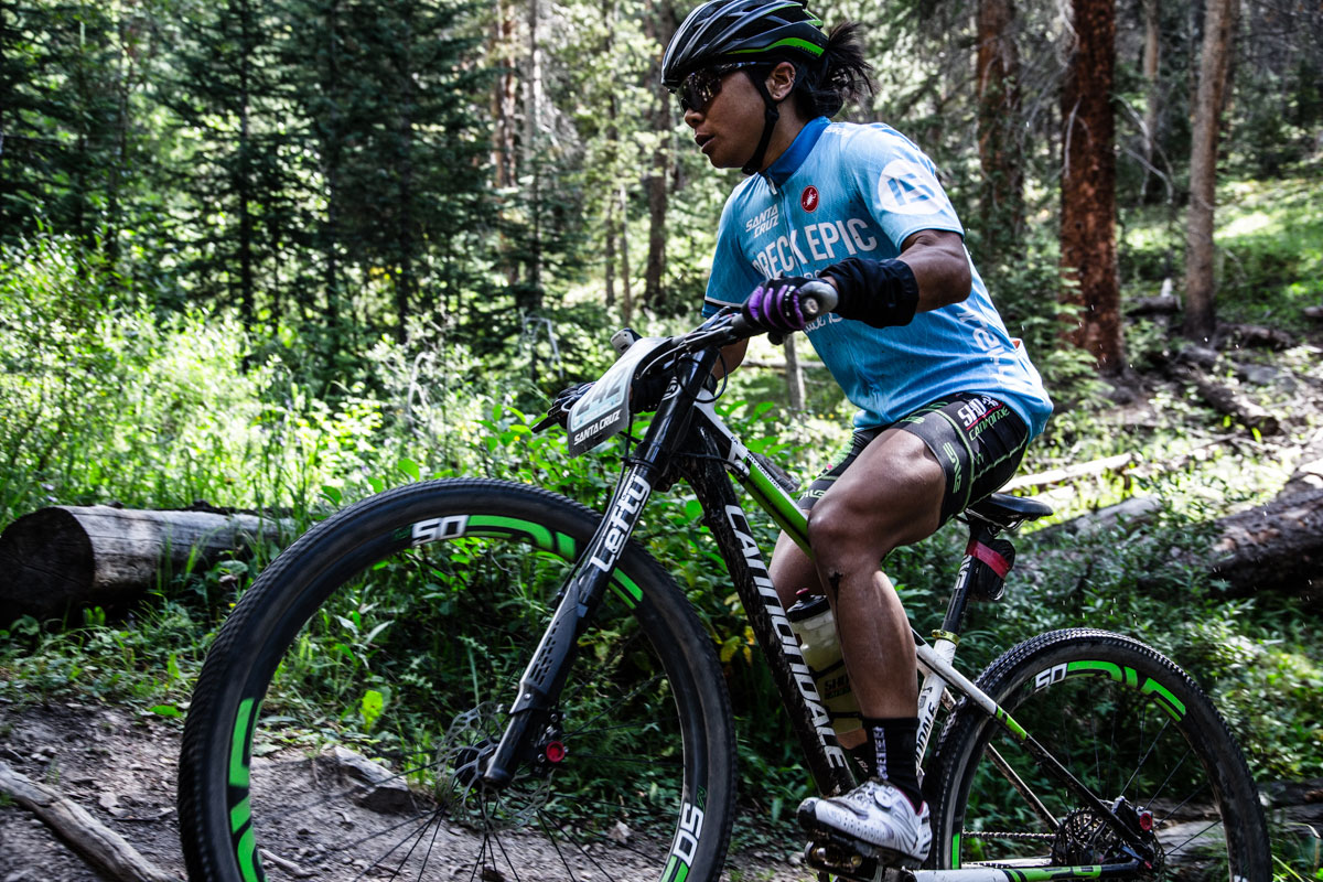 The women's 6 day race continues to be close - Evelyn Dong misses out on the top step today by mere moments finishing second to Marlee Dixon. Photo courtesy Breck Epic/Liam Doran