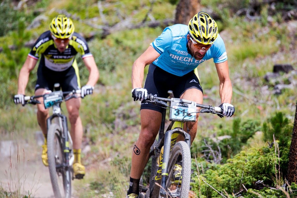 Stage 1 winner Alban Lakata on the move. Photo courtesy Breck Epic/Liam Doran