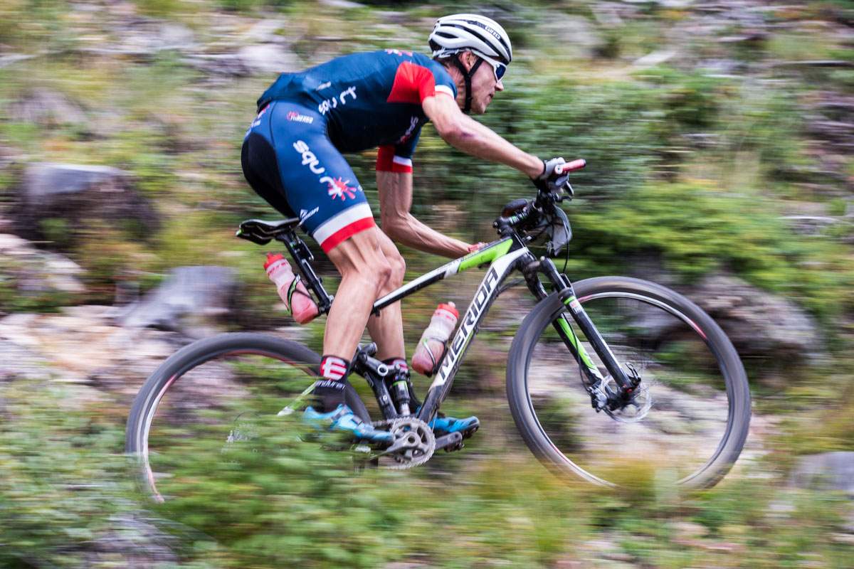 Ben Melt Swanepoel looks ahead on a high speed section of the Colorado Trail. Photo courtesy Breck Epic/Liam Doran