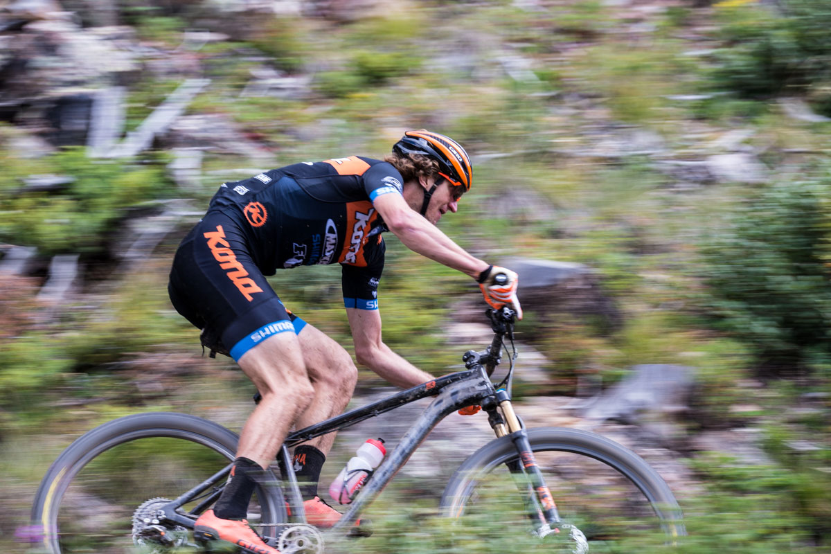Kona is represented well with three of their top racers including Barry Wicks. Photo courtesy Breck Epic/Liam Doran