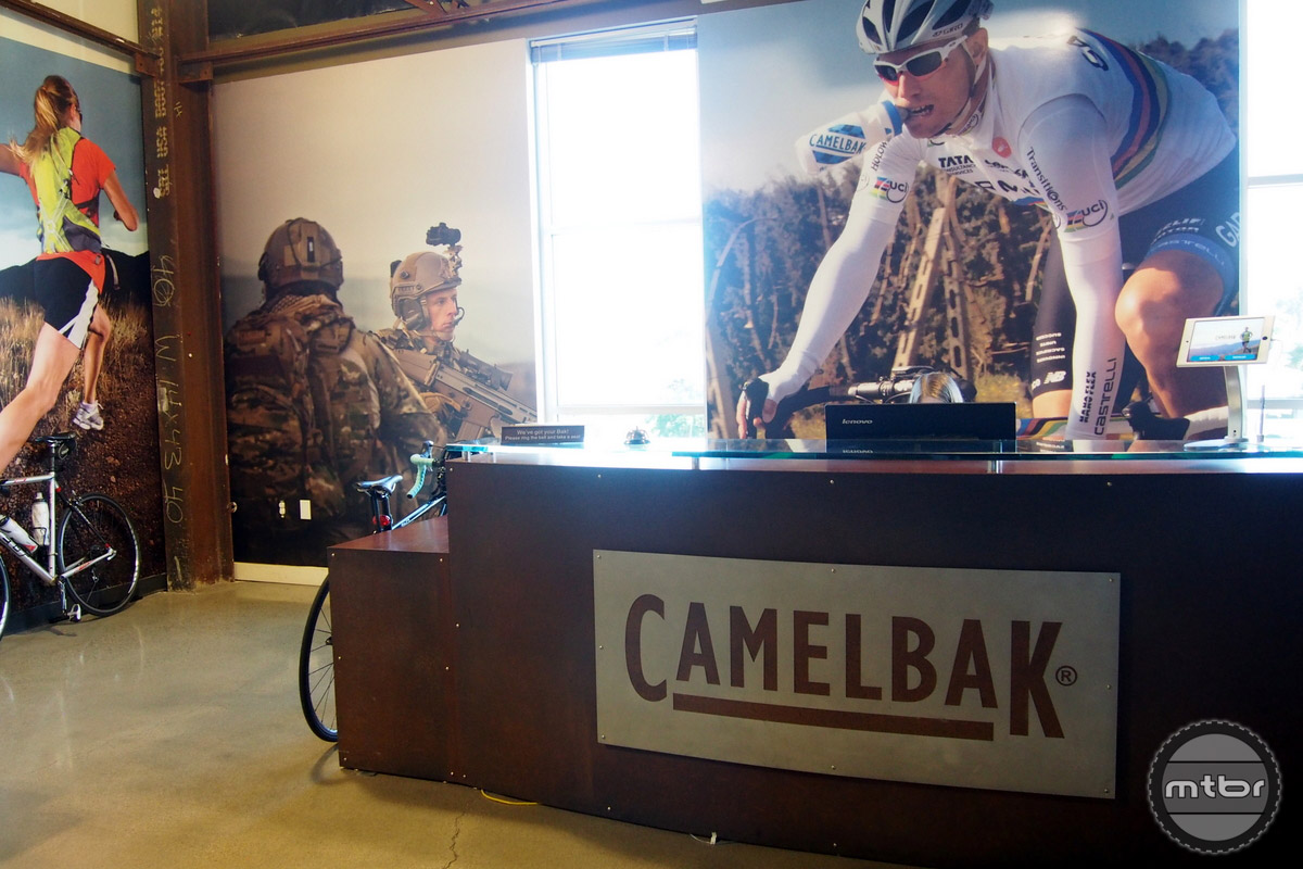 CamelBak covers a range of categories including military applications.