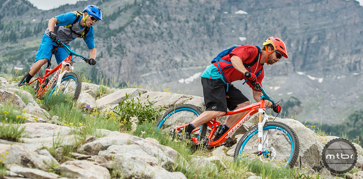 """Short'ish 17.1"""" chainstays are designed to deliver a snappy playful ride."""