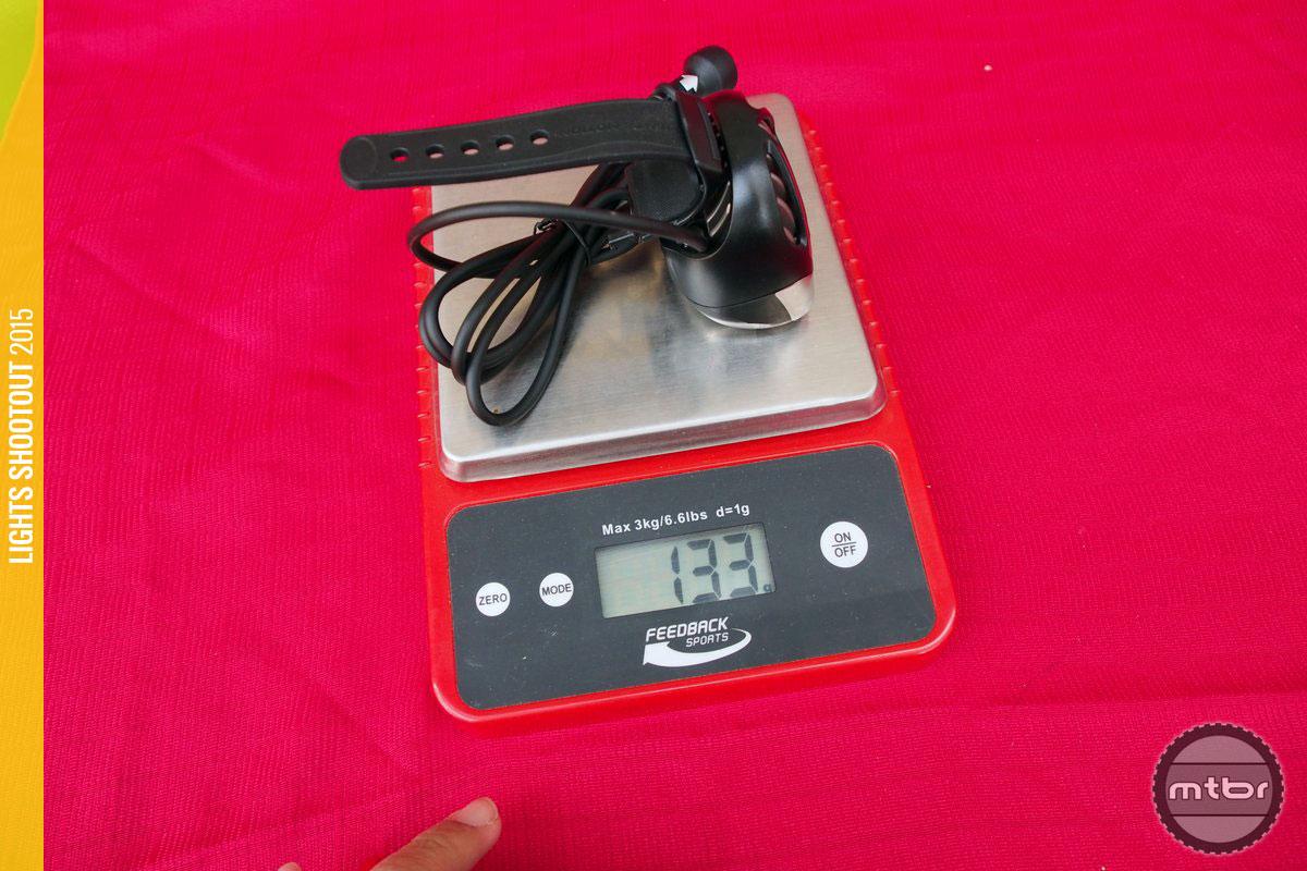 Light & Motion Seca 2000 Race Light Head Weight