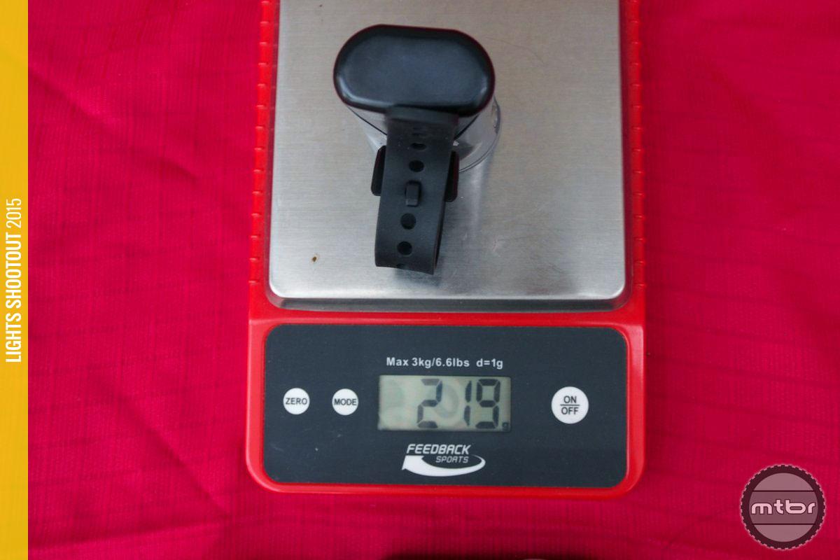 Light & Motion Taz 1500 Weight