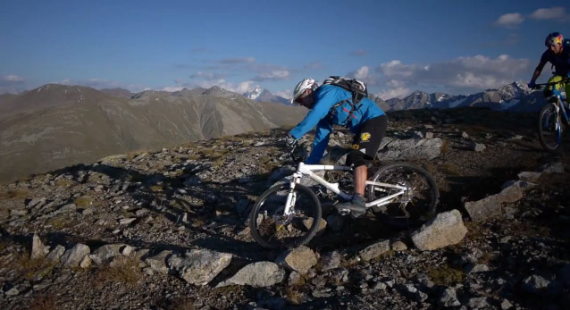 Danny MacAskill and Hans Rey in Livigno