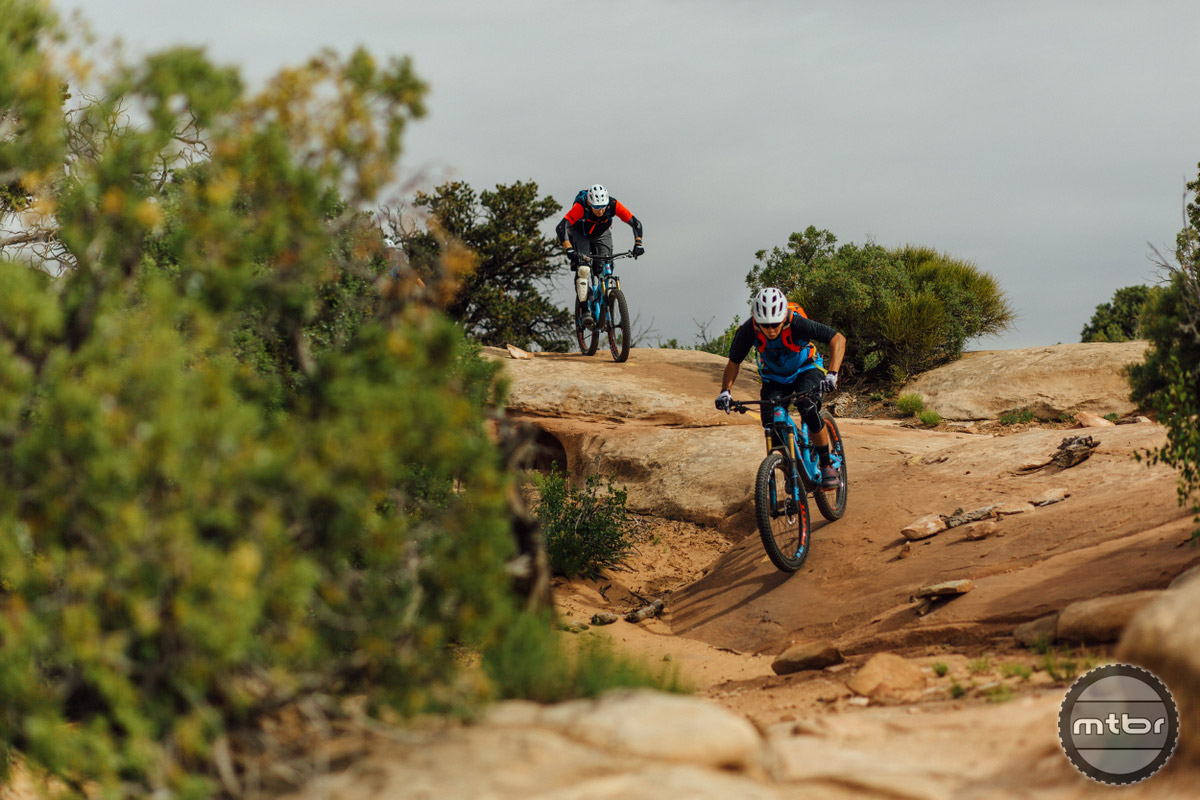 Moab's Mag 7 trail was a feature-filled playground. Photo by Lear Miller