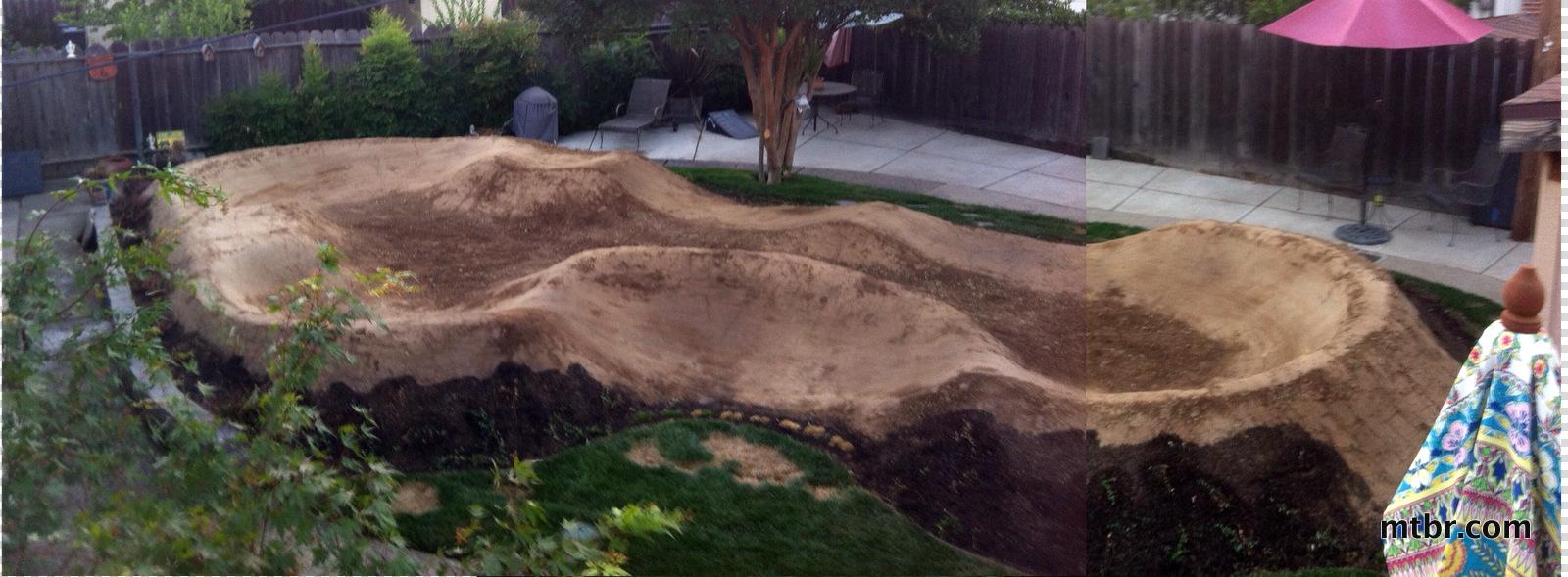 Backyard Pumptrack feature: the backyard pump track - construction- mtbr | page 2