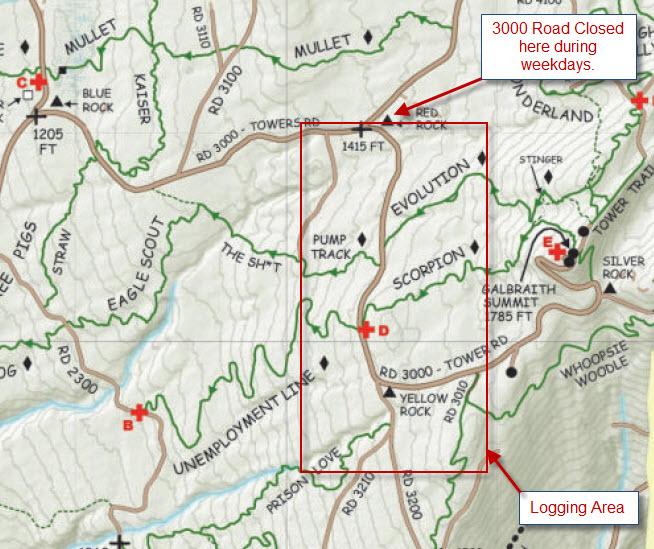 Galbraith Logging Activity - Head's up!-logging_3000_road.jpg