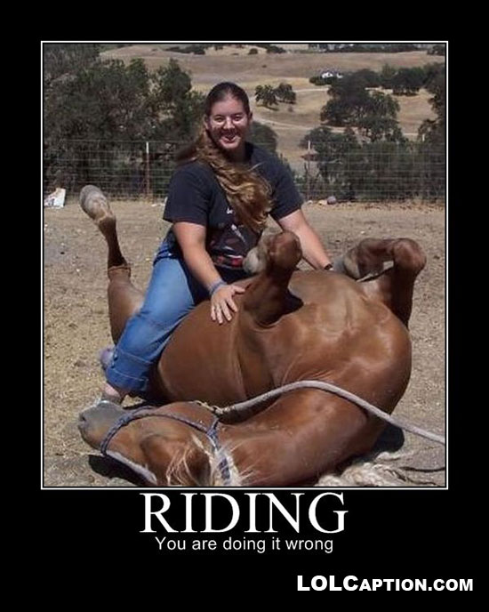 "Why so much ""Your doing it wrong!"" ?-lolcaption-demotivationals-riding-youre-doin-wrong.jpg"