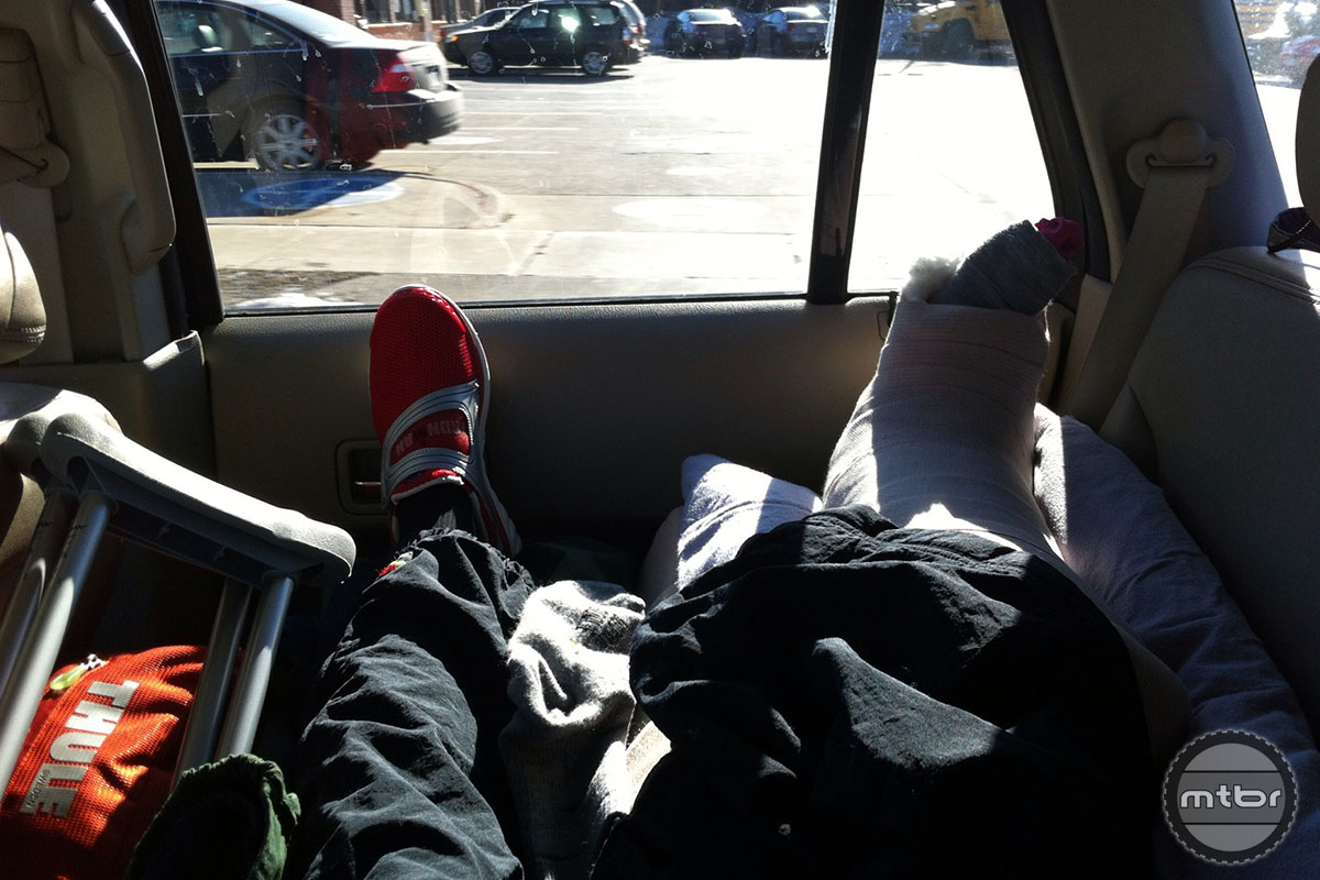 The ride home from Wisconsin to Connecticut was not a fun one after Maximenko mangled her foot at Cyclocross Nationals.