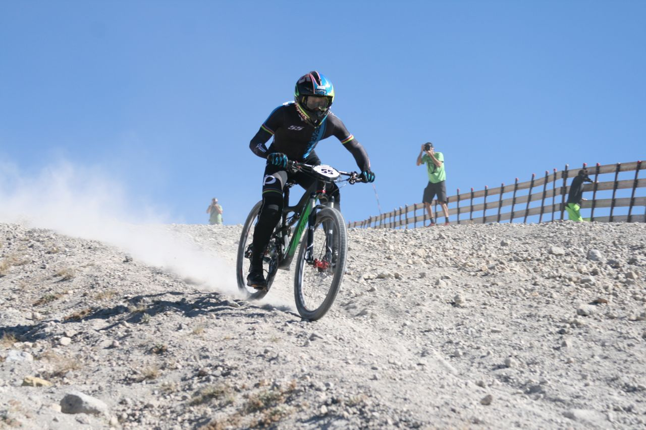Rocking his Ibis Ripley 29er, Lopes dusted the Kamikaze in a 4:55.