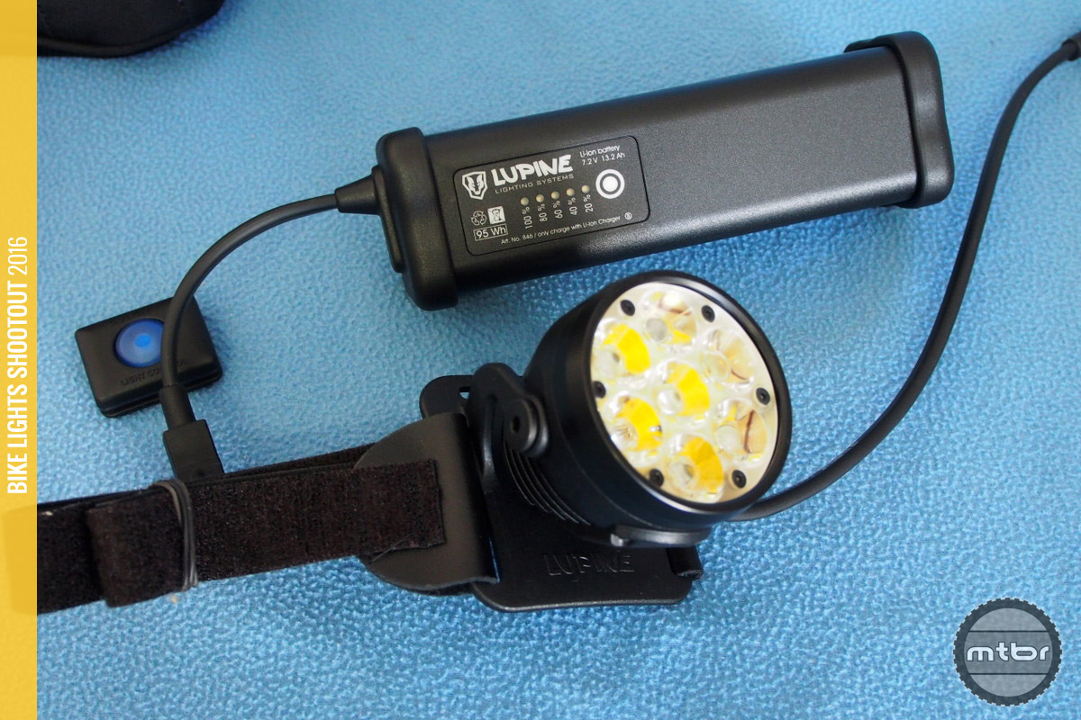 The Lupine Betty R 15 with big smart battery.