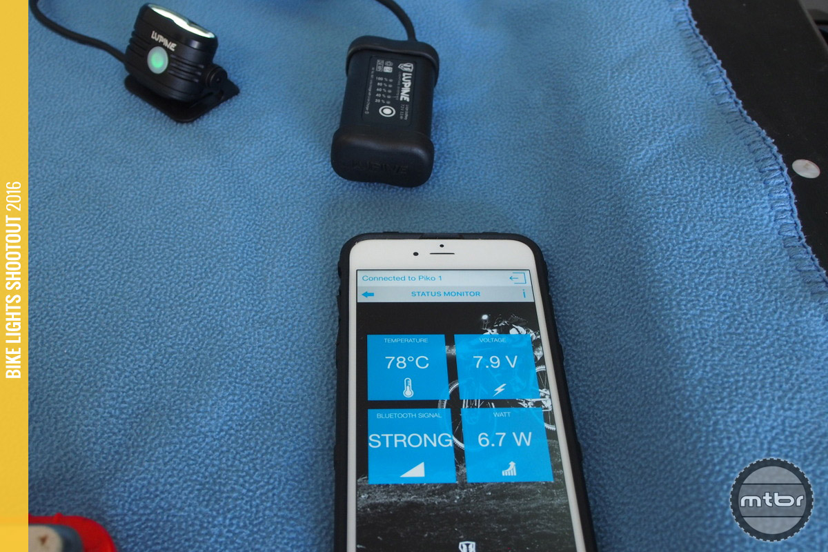 The App shows the current health of the light given the existing airflow and ambient temperature.