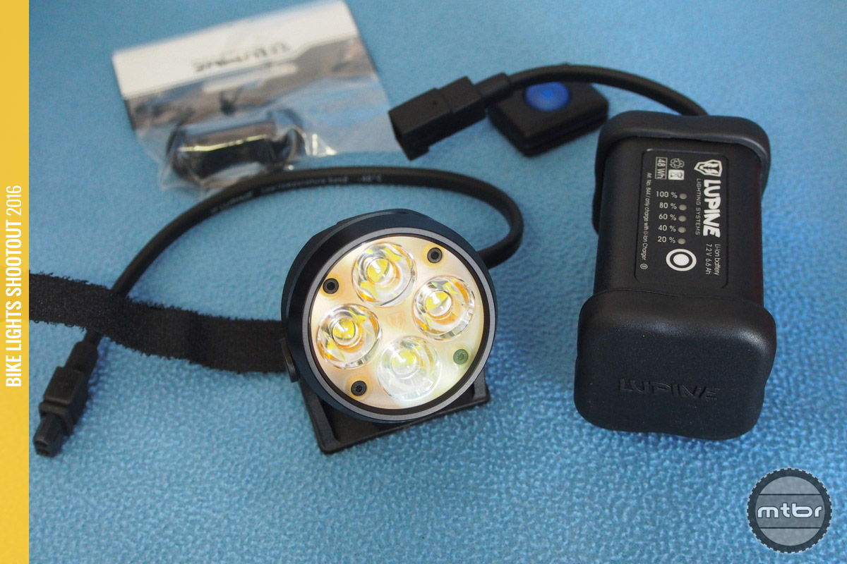 Lupine Wilma 7 batteries and included remote.