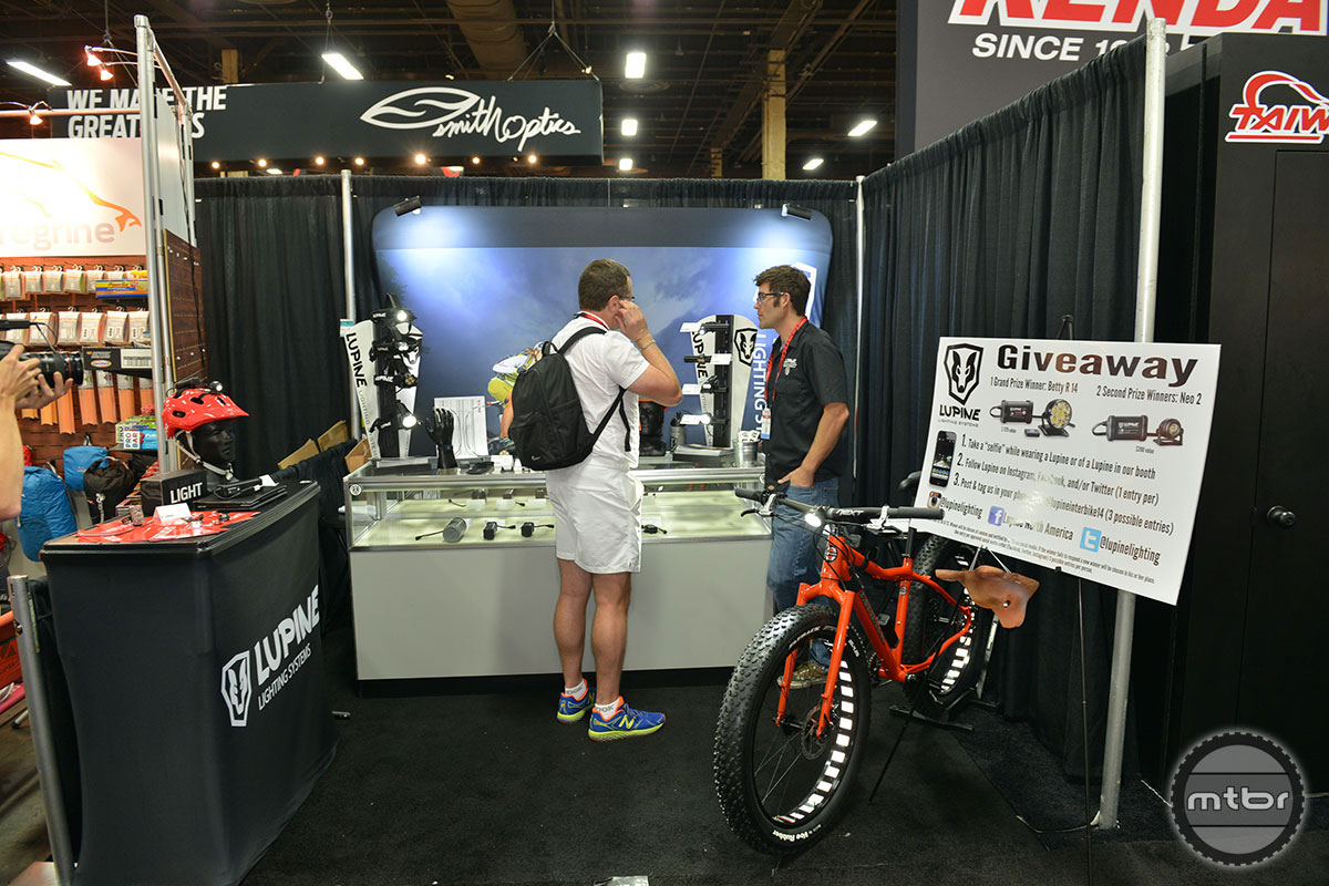 Lupine Booth - Interbike 2014