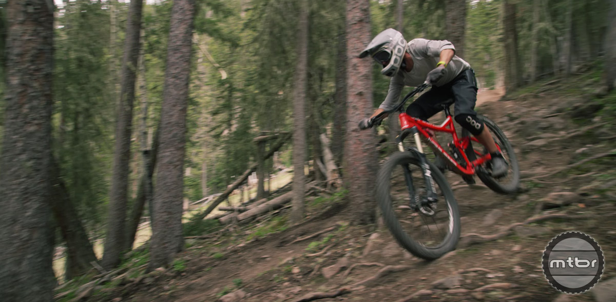 Franklin races enduro on the pro level for Jamis Bikes.