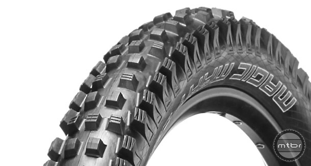 Trail/all-mountain tires show a combination of reduced weight for climbing and acceleration, along with traction and protection against pinch flats. Photo courtesy of Art's Cyclery