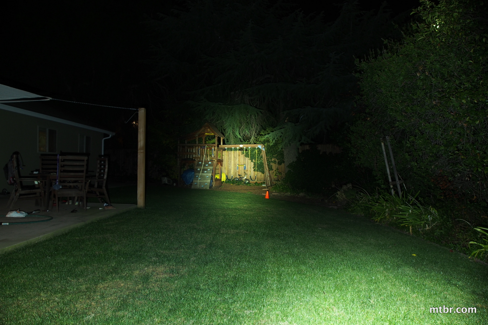 Magicshine MJ-808 Backyard Beam Pattern