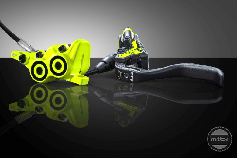 The MT7 Raceline is a limited edition version that pays homage to the Magura neon yellow roots.