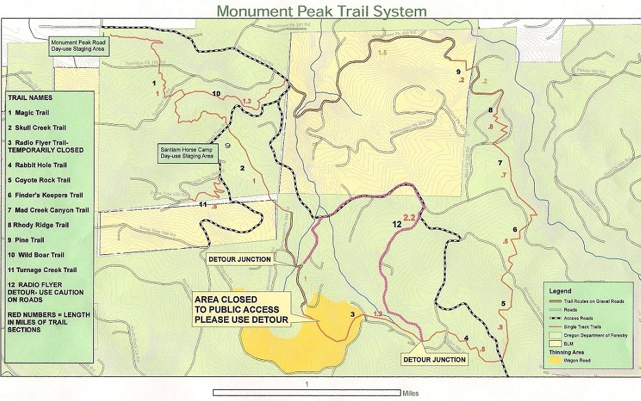 Mill City Oregon Map.Monument Peak Trail Mtbr Com