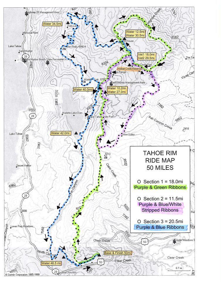 Trail Use Advisory - Tahoe Rim Ride (Equestrian) - August 10, 2013-map.jpg