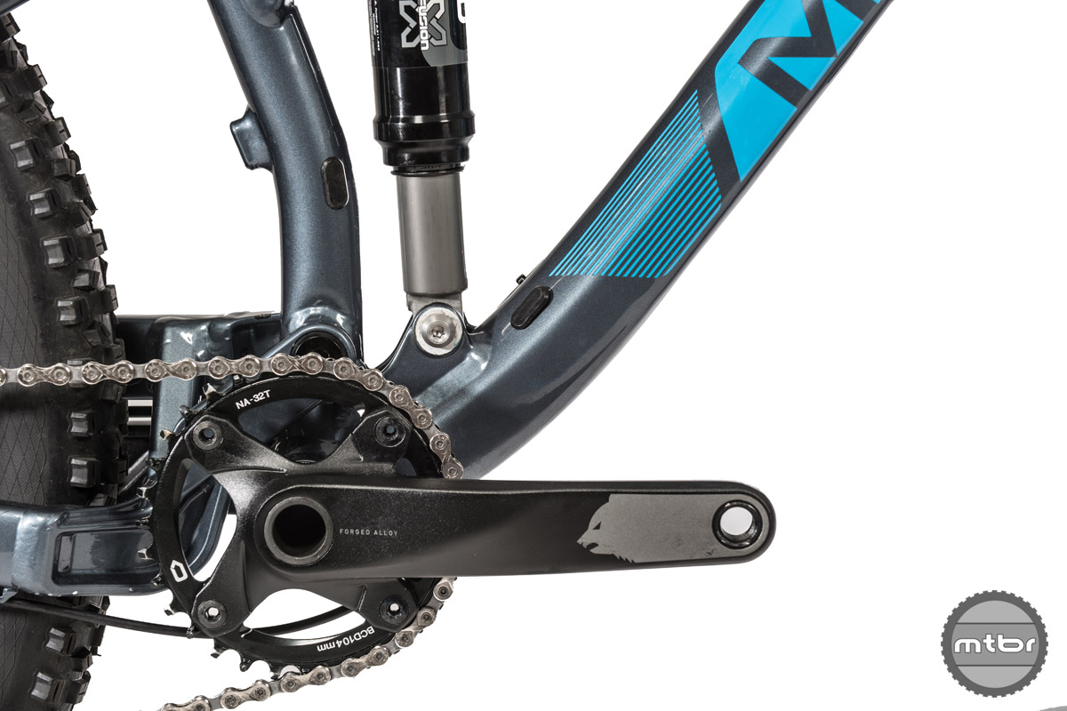 The stock 32 x 11-42 gearing should be wide enough to climb up most fire roads, but riders with steeper terrain may want to consider trying a 28T or 30T ring.