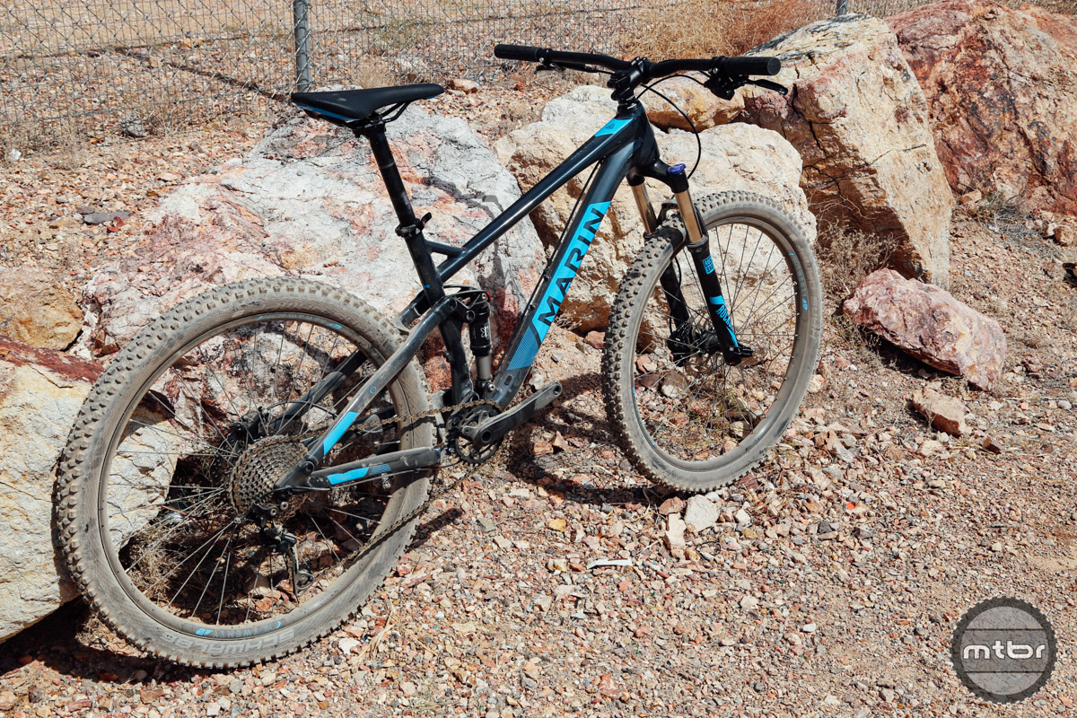 The Hawk Hill employs a similar suspension layout as Marin's premium models, the Attack Trail and Mount Vision, but utilizes a rear pivot to help keep costs down.