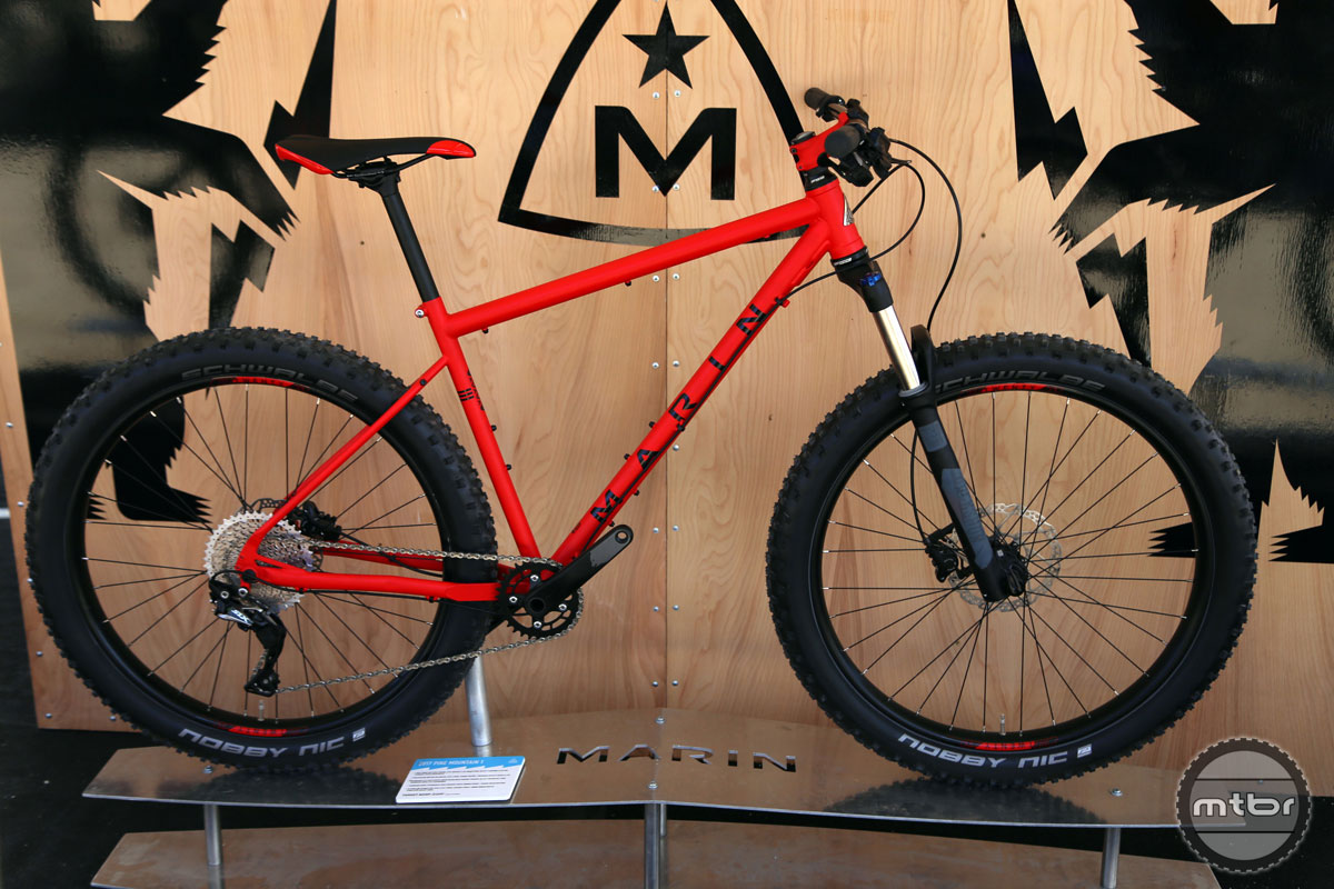 The Pine Mountain line of hardtails combine aggressive trail geometry and mid fat tires in an affordable package.