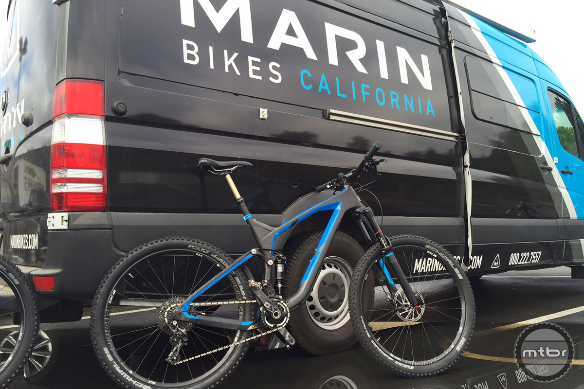 This Marin Attack Trail C-XT9 sits in the Mtbr offices wearing a satisfying coat of NorCal mud splatter. We picked up our test bike from company reps in Fairfax, Calif. and took it for a rip at Camp Tamarancho on the flanks of Mt. Tamalpais—the sport's birthplace. While we have much more riding to do on this burly 150mm-travel enduro machine, the early signs are quite positive.