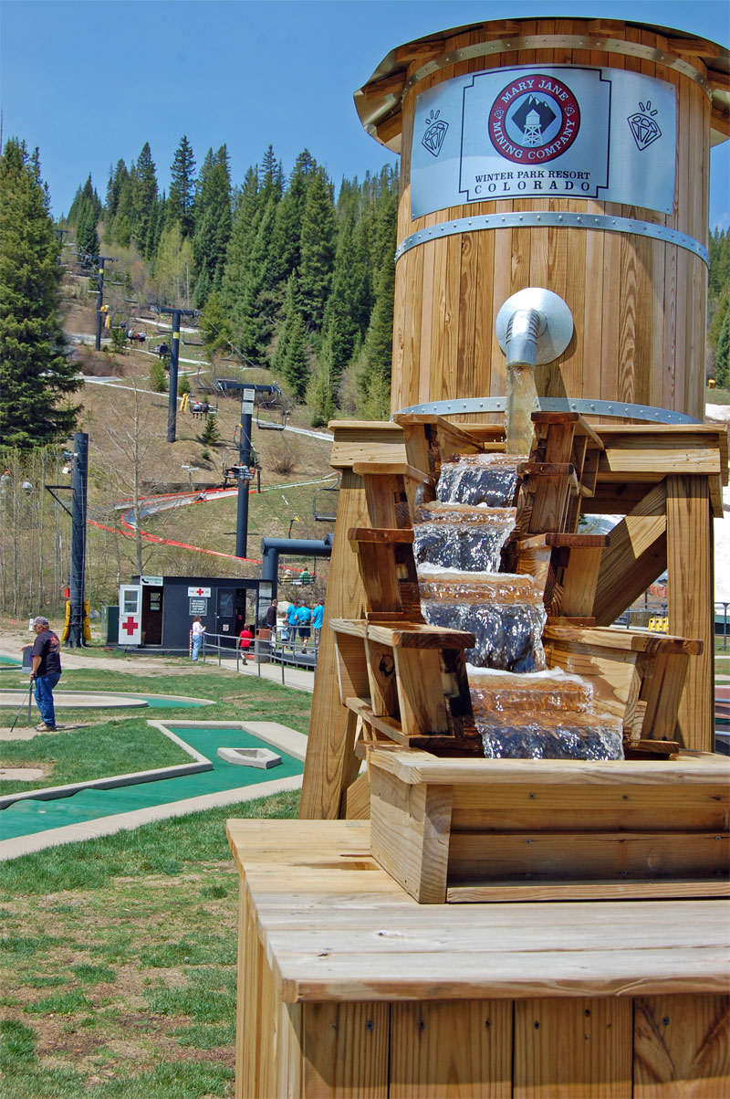 Mary Jane Mining Company Gem Panning, near mini golf and Alpine Slide - by Tana Hoffman, Winter Park Resort