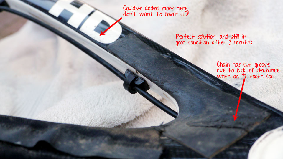 Protecting inside of HD rear triangle/seat stay near cassette-mastic-fantastic.jpg