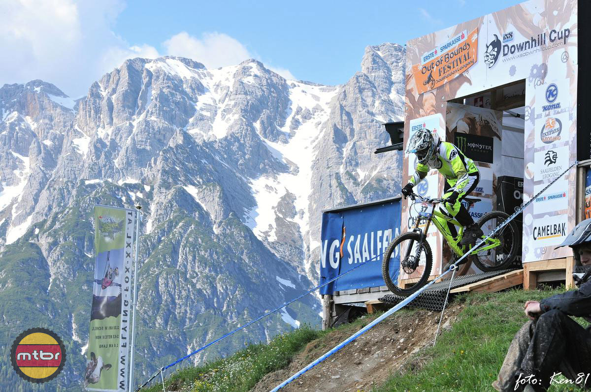 Matej Charvat launches into Leogang's iXS Cup Course