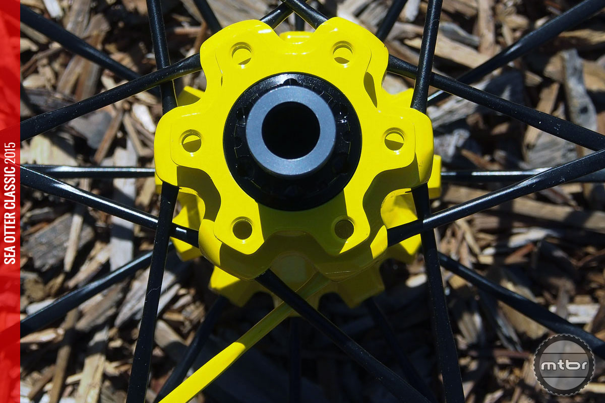 Rotor attachment is 6-bolt for both wheelsets.