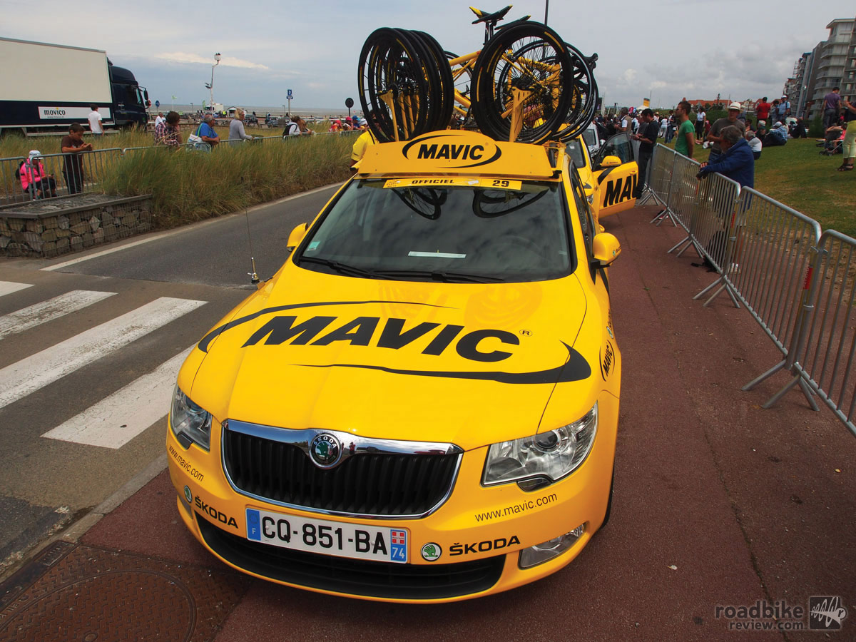 Mavic has been providing neutral support at road races such as the Tour de France since the early 1970s.