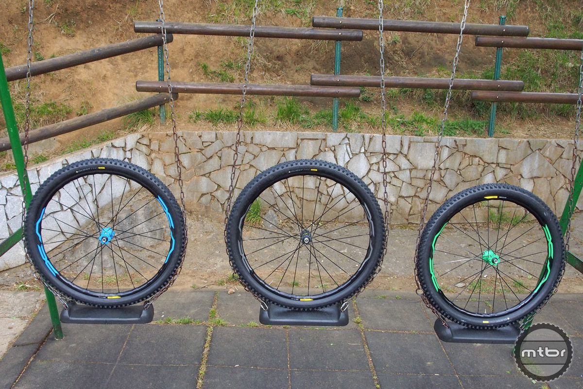 Choose between black, green or blue when picking up a pair of the new Mavic XA Elite alloy wheels.