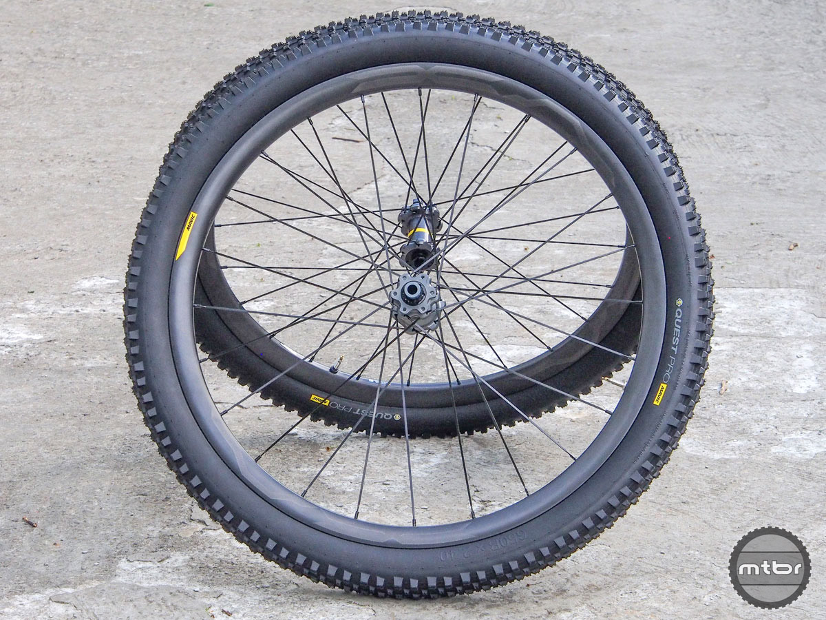 Price: $1850 (tires included). Claimed wheel weight: 1470g for 27.5; 1600g for 29er. Available: September 1.