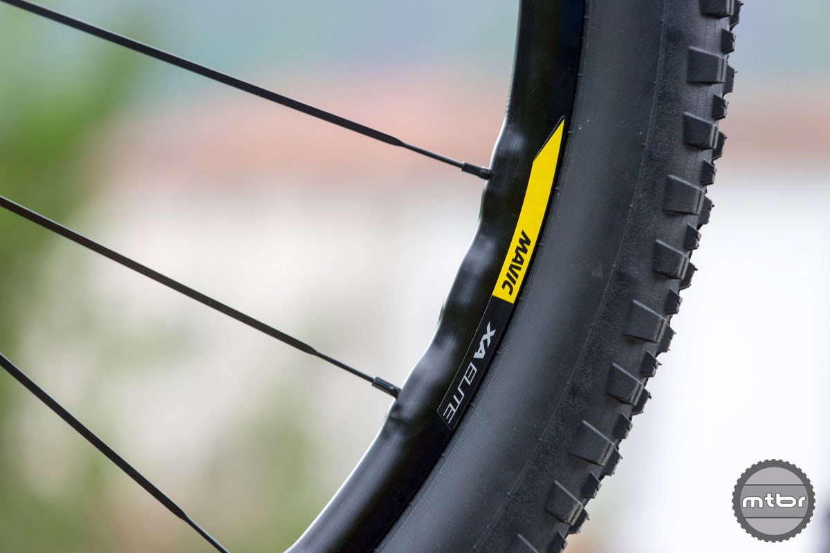 ISM 4D drilling of the XA Elite rims is designed to shave weight without compromising stiffness.