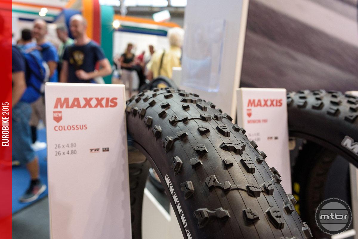 Maxxis Colossus fat bike tire.